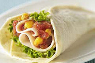 Turkey Corn Salsa Tortilla Wraps