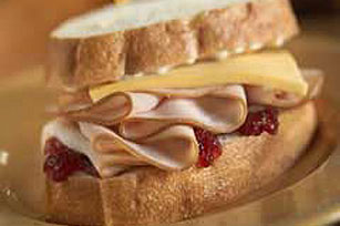 Turkey Cranberry Sandwich Image 1