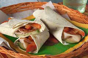 Turkey Fajita Wraps
