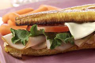 Turkey & Swiss Plantain Sandwich Image 1