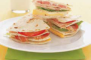 Turkey and Tomato Tortilla Stacker