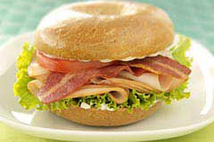 Turkey & Ranch Bagel Club Image 1