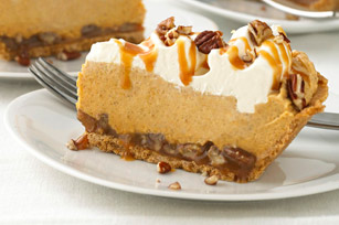 Layered Caramel-Pumpkin Pie