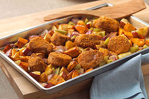 Tuscan Roasted Vegetable & Pork Tenderloin Bake