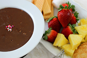 Two Ingredient Chocolate Fondue