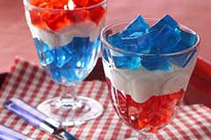 Uncle Sam's Red, White & Blue Parfaits
