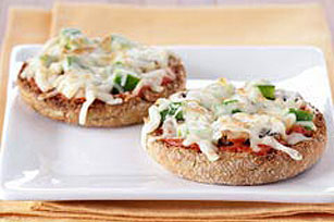 Vegetable-English Muffin Pizzas