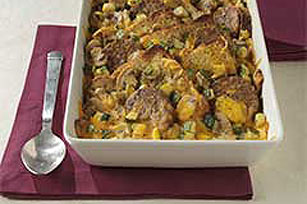 Cheesy Veggie Burger Brunch Casserole Image 1