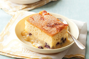 Warm Blueberry-Pudding Cake