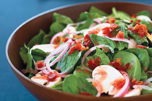 Warm Spinach & Bacon Salad
