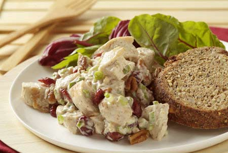 Warm Chicken-Pecan Salad