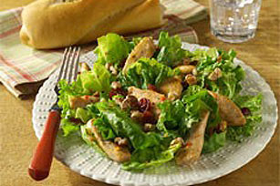 Warm Chicken, Cranberry & Walnut Salad