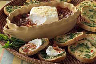 Warm Creamy Basil Spread