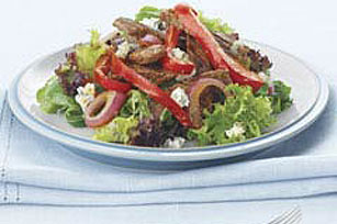 Warm Steak and Blue Cheese Salad
