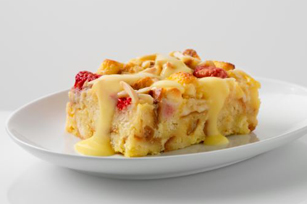 Reduced Sugar White Choco-Berry Bread Pudding