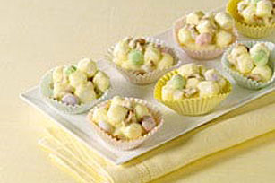 White Chocolate-Mallow Clusters