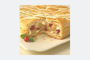 White Chocolate Cranberry-Pear Pastry