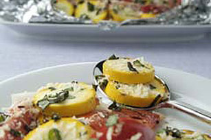 Yellow Squash, Tomato & Onion Packets Image 1