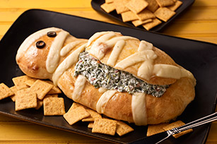 Halloween Mummy Spinach Dip