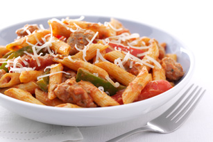 Zesty Penne| Sausage and Peppers