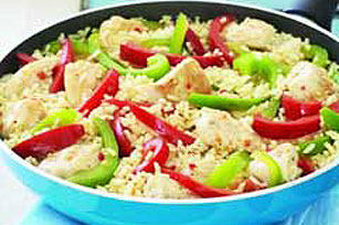 Zesty Chicken and Rice Skillet