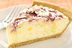 Zesty Lemon-Raspberry Swirl Pie