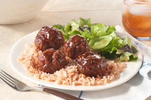 Zesty Meatballs and Rice Image 1