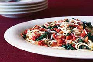Pasta con espinacas Image 1