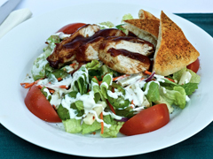 BBQ Chicken Salad with Pita Wedges