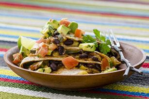 Black Bean & Vegetable Quesadillas with Avocado-Tomato Salsa