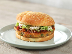 BOCA Essentials Chile Black Bean Burgers with A.1. Salsa & Queso Anejo