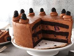 Chocolate Bourbon Layer Cake