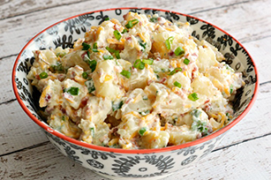 Creamy Bacon Cheddar Loaded Baked Potato Salad
