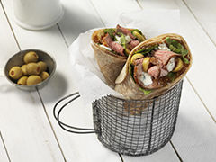 Fig and Blue Steak Wraps
