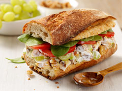 Grilled Chicken Salad on a Toasted Baguette