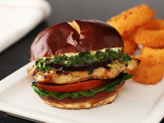 Grilled Chicken Sandwiches with Chimichurri