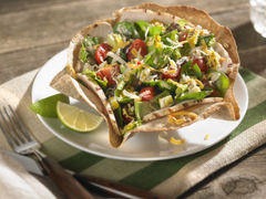 Grilled Chicken Taco Salad with Spicy Ranch Dressing