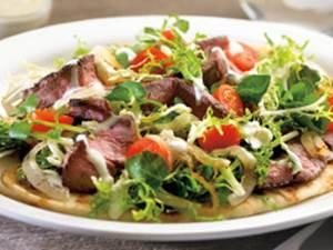 Grilled Flatbread Steak Salad