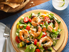 Grilled Shrimp-Greek Feta Salad