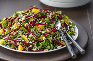 Kale Salad with Beets, Oranges & Hazelnuts