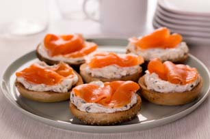 Mini Bagels with Smoked Salmon and Cream Cheese Image 1