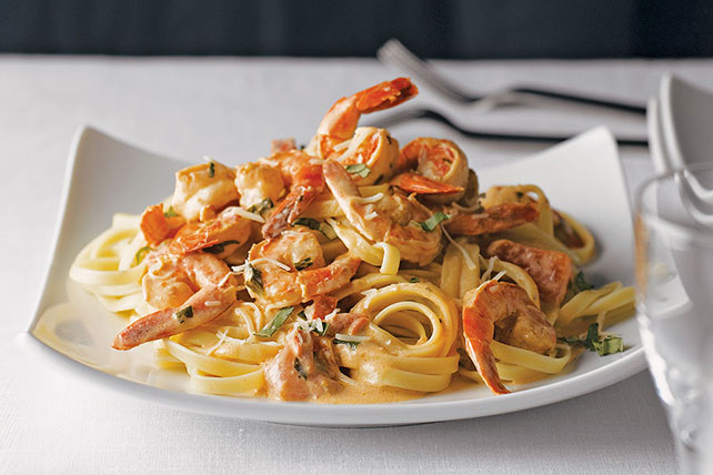 Easy Shrimp Fettuccine for Two Image 1
