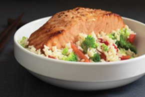 Teriyaki Salmon Supper