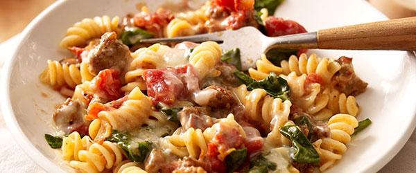 Tomato & Spinach Pasta Toss