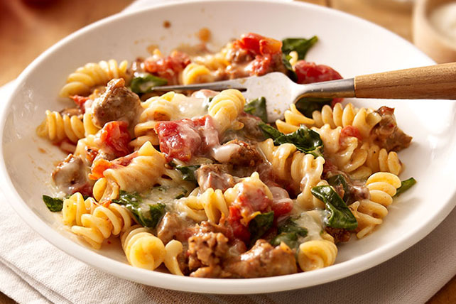 Tomato & Spinach Pasta with Sausage