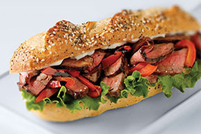 BBQ Steak and Peppers Sandwich