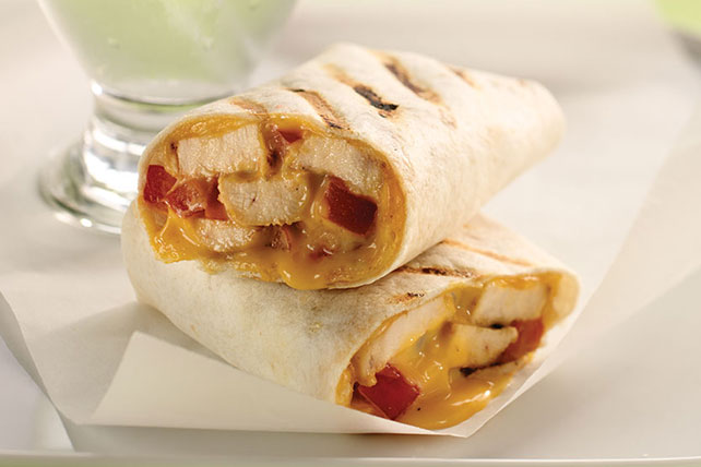 Grilled BBQ Chicken Wraps