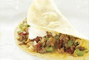 Tacos de carne de res y chipotle