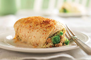 Creamy Broccoli-Stuffed Chicken Breasts