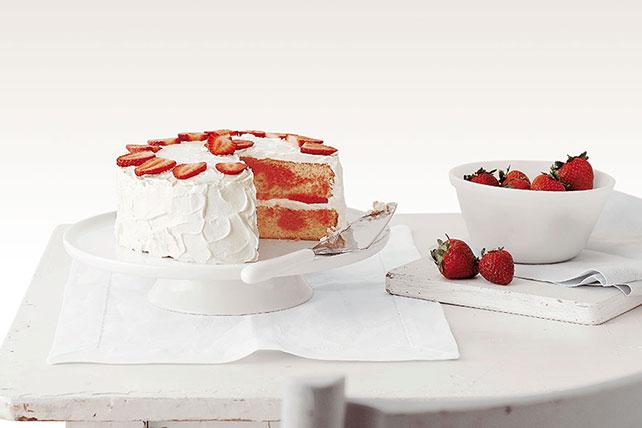 Gâteau marbré aux fraises Image 1